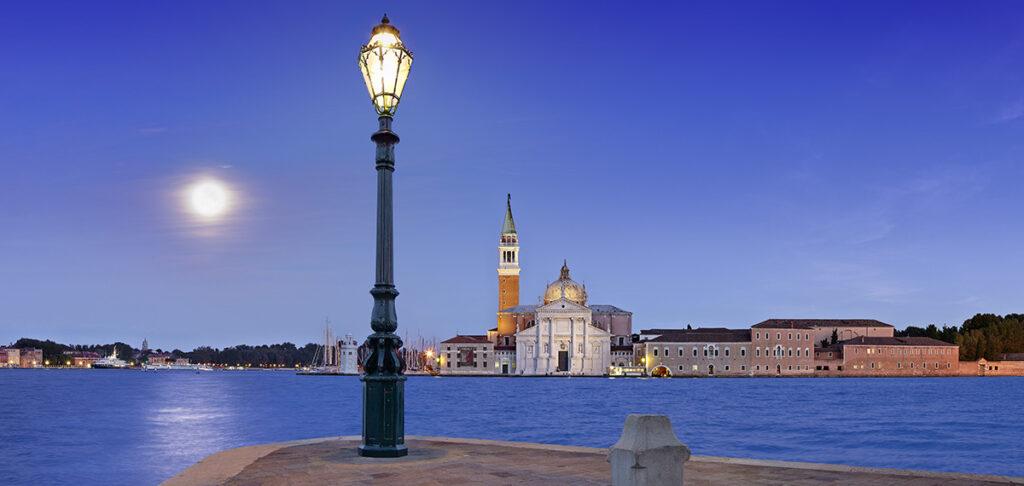 The island of San Giorgio from Punta della Dogana, Venice, Italy
